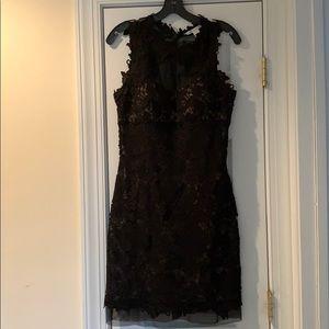 Diane Von Furstenberg Black Lace Dress size 10